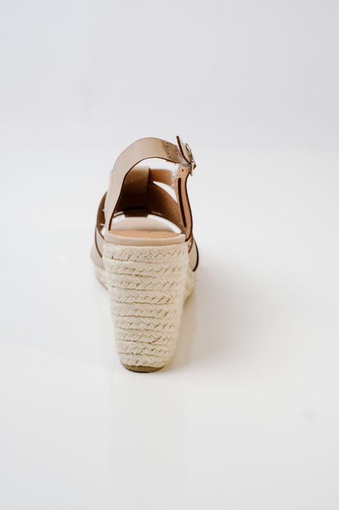 Wedge Hemp sole nude wedge