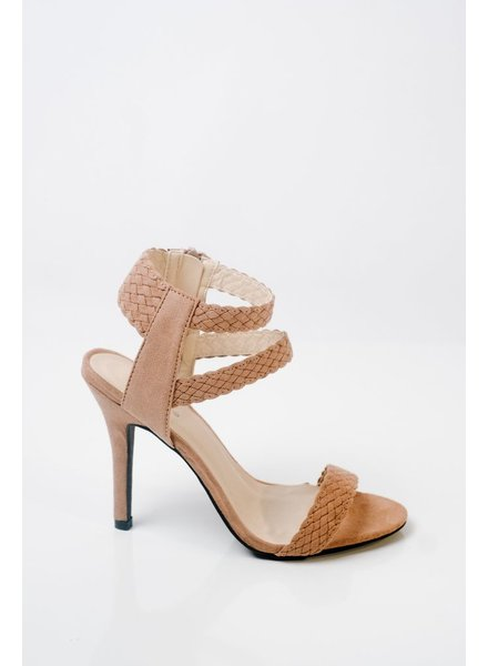 Pump Taupe Braided Strap Pump