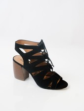 Sandal Black lace up gladiator shoes