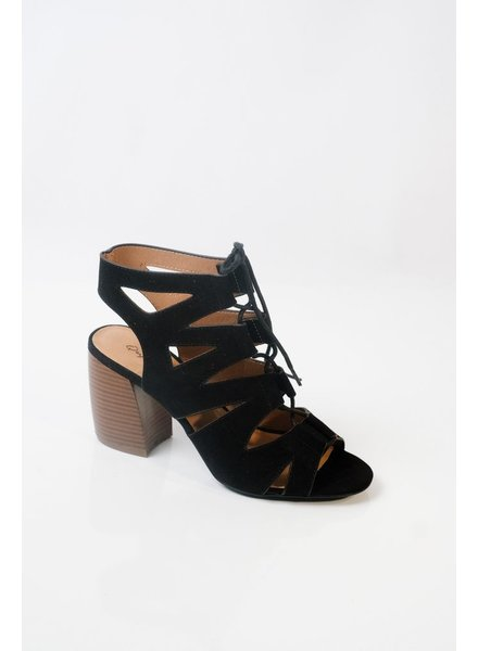 Sandal Black lace up gladiator shoes
