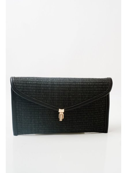 Clutch Black straw envelop clutch