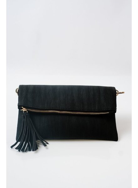 Clutch Black foldover clutch