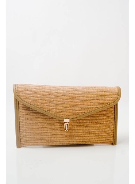 Clutch Natural straw envelop clutch
