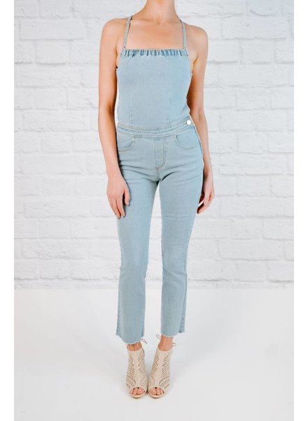 Jumpsuit Denim Halter Top Jumpsuit