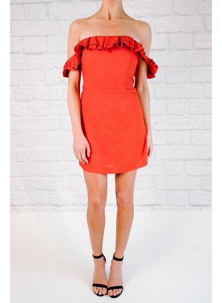 Mini Off the Shoulder Ruffle Top Dress