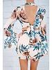 Romper Flower Print Tie Back Romper