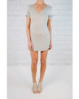 Mini Grey t-shirt dress