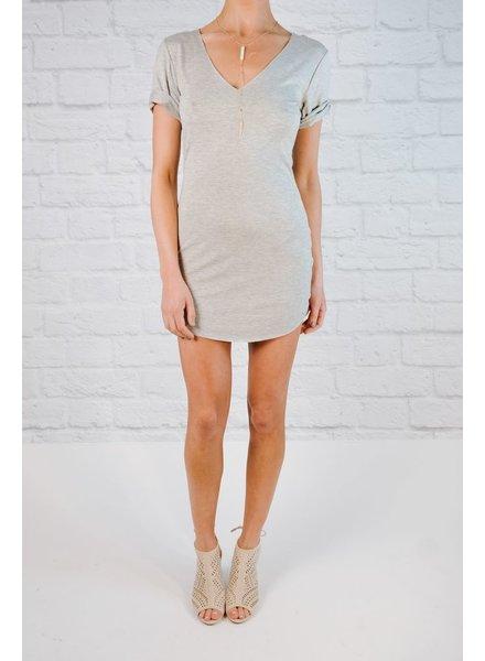 Mini Grey t-shirt dress