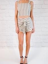 Shorts Graphite striped shorts
