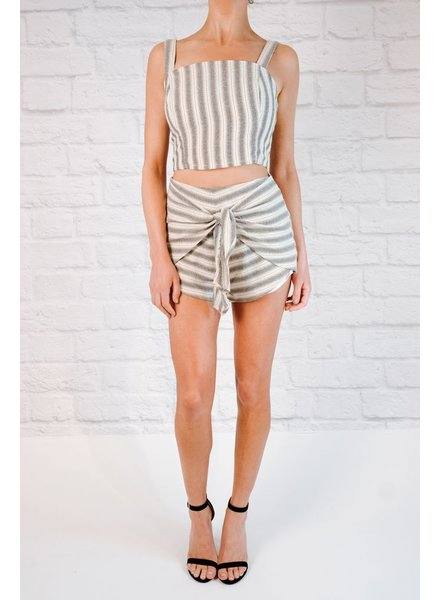 Shorts Graphite striped shorts