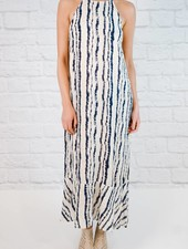 Maxi Halter Neck Sleeveless Long Dress
