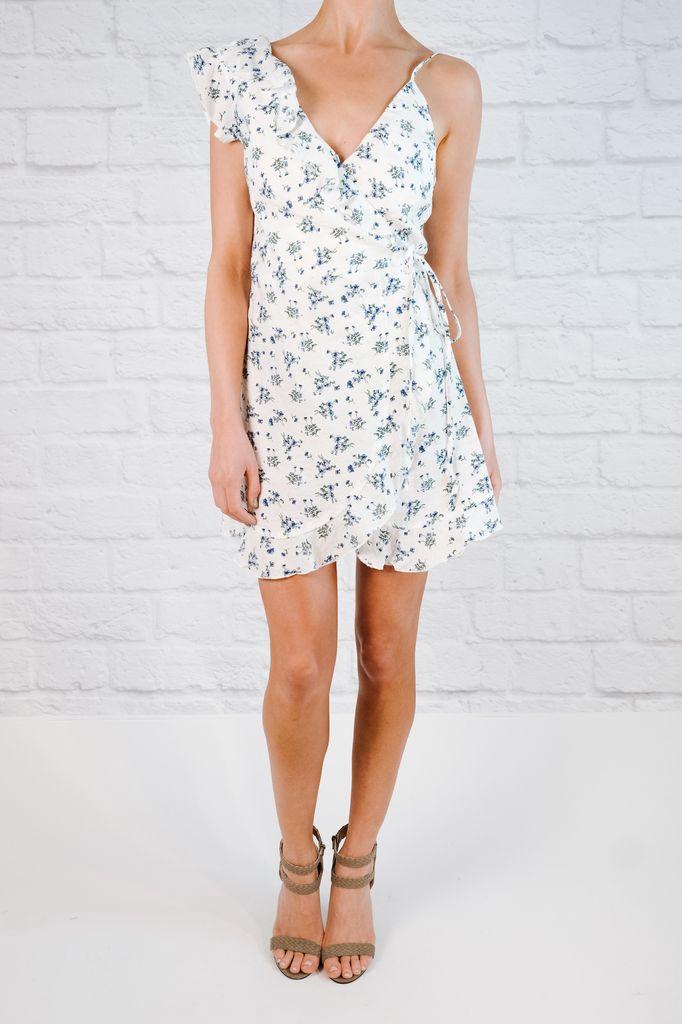 Mini Micro floral wrap dress