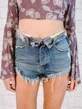 Shorts Foldover Denim Shorts