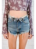 Shorts Foldover Denim Shorts