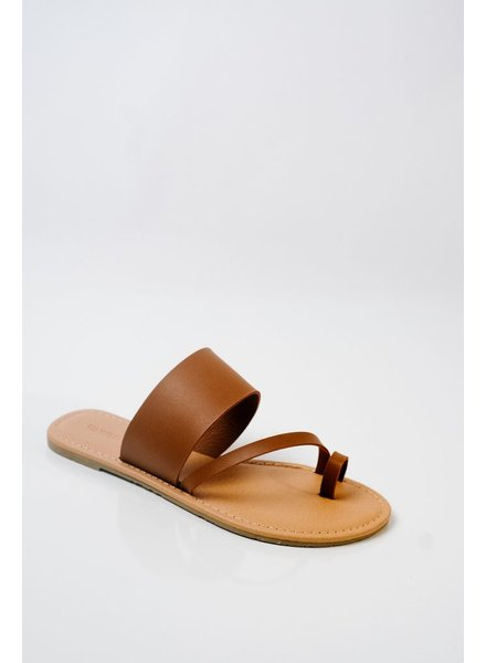 Sandal Tan Toe Strap Sandal