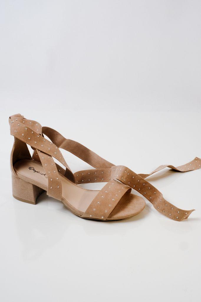 Sandal Silver stud wrap sandals