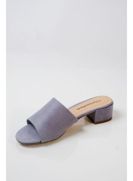 Sandal Sky blue heeled slide