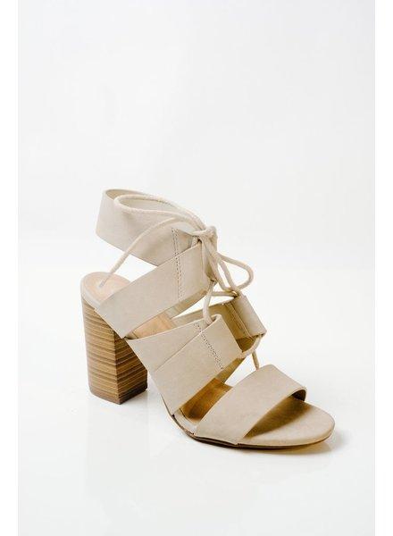 Pump Dove stacked heel sandal