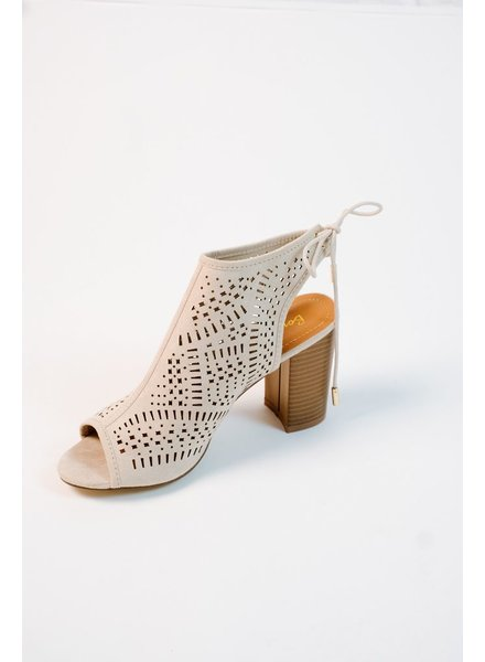 Sandal Laser cut block heels