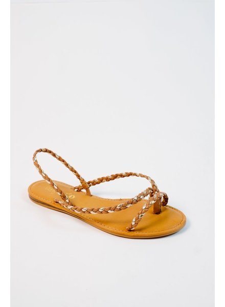 Sandal Gold accent braided sandals