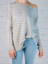 T-shirt Striped jersey favorite tee