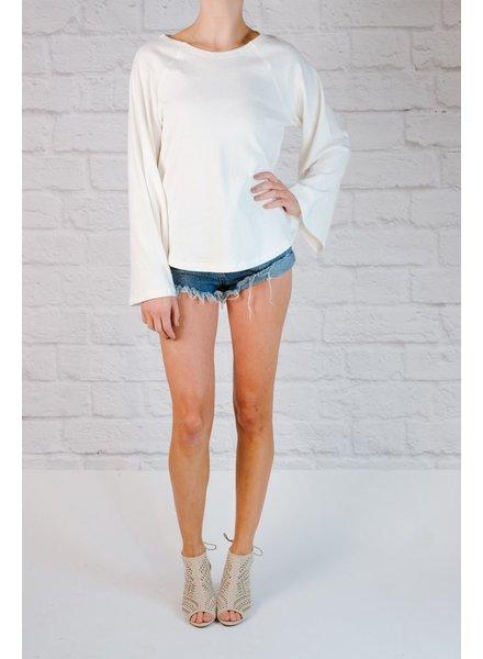 Sweatshirt Bell sleeve spring sweatshirt