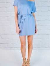 T-shirt Blue jersey t-shirt dress