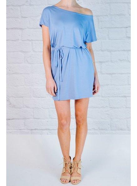 T-shirt Blue jersey t-shirt dress