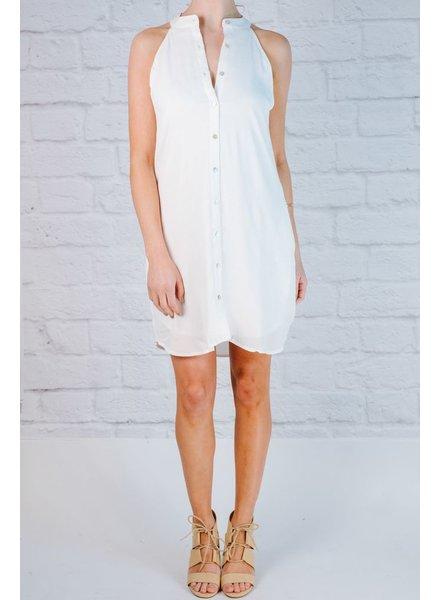 Mini Sleeveless Button Down Dress