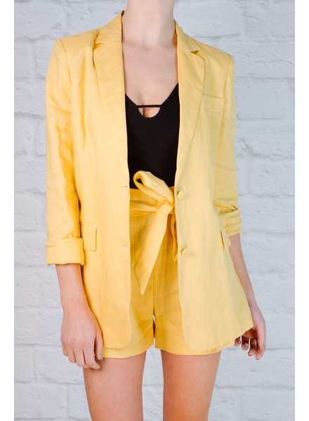 Shorts Lemon linen suit shorts