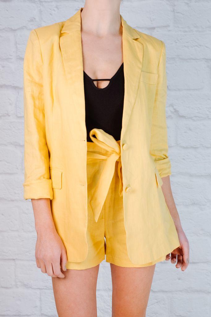 Shorts Lemon linen suit shorts