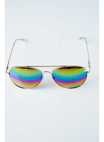 Sunglasses Multi-color gold tone aviators