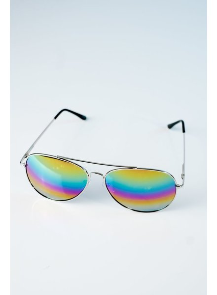 Sunglasses Multi-color silver tone aviators