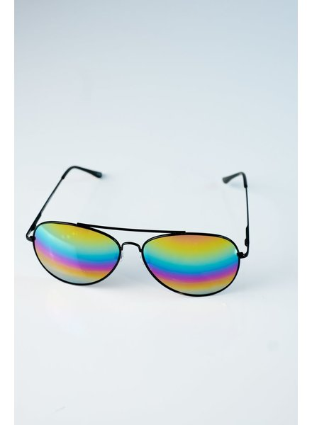 Sunglasses Multi-color black frame aviators