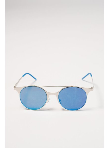 Sunglasses Blue flat mirrored sunnies