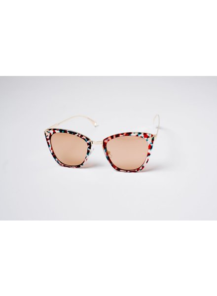 Sunglasses Jeweltone cateye sunglasses