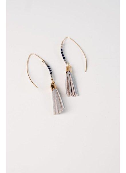 Trend Silver tassel hook earring