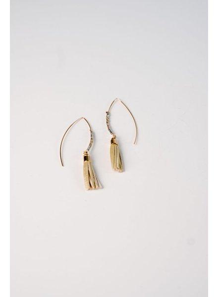 Trend Gold tassel hook earring