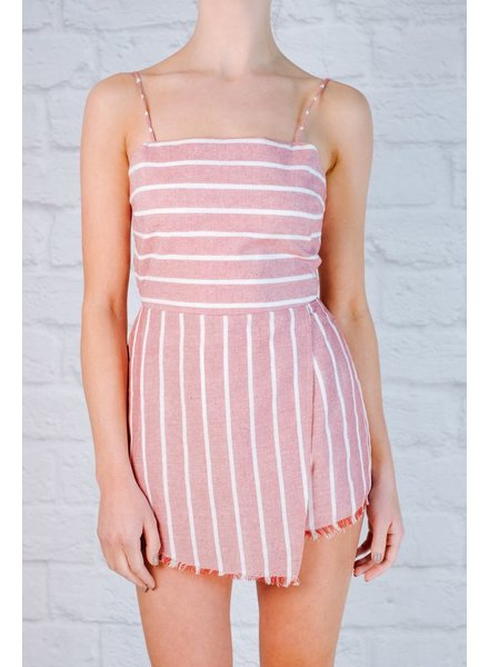 Casual Tie back seaside romper