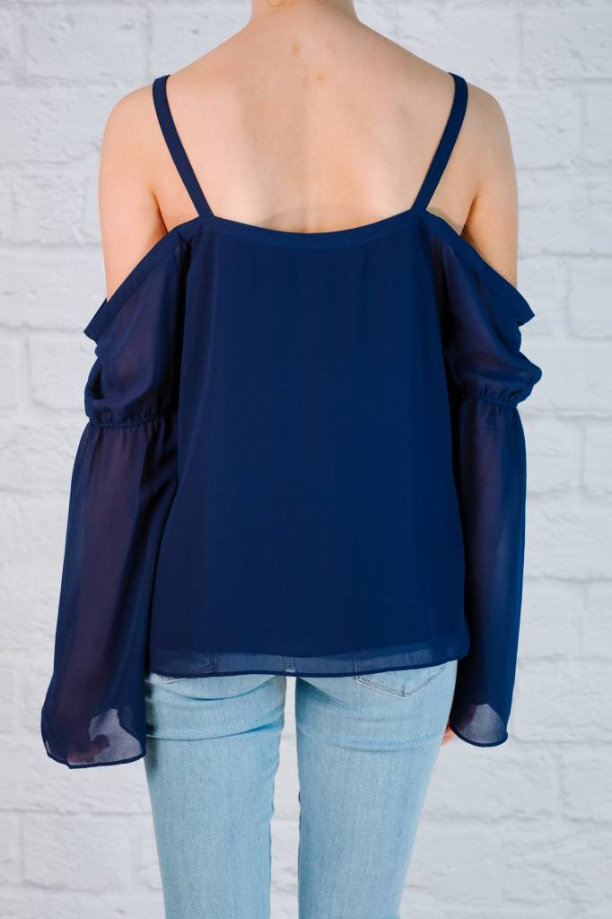 Blouse Strappy Cold Shoulder Blouse