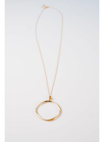 Open O necklace