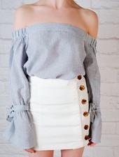Skirt Side button mini