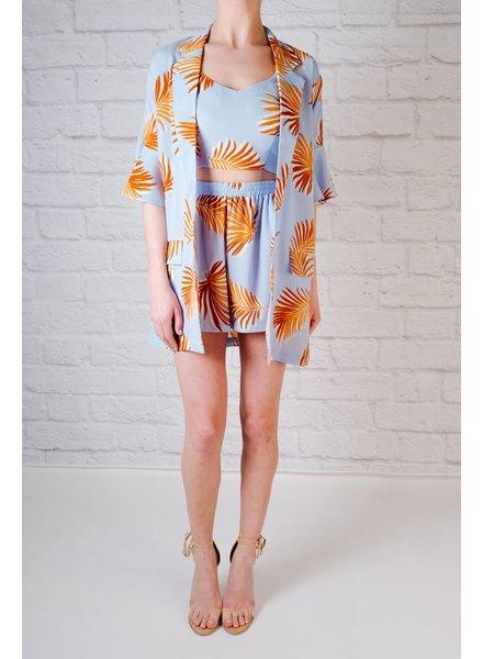 Blazer Palm Print Coordinating Blazer
