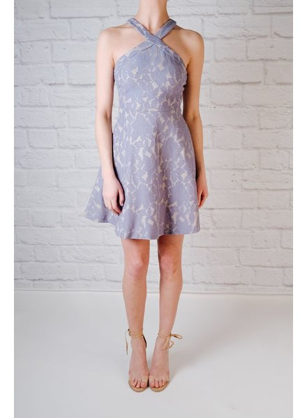 Mini Perwinkle lace fit and flare
