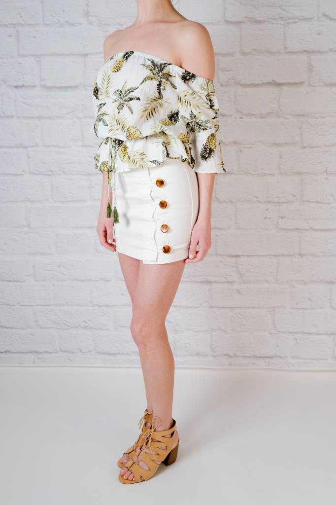 Blouse Cinched pineapple top