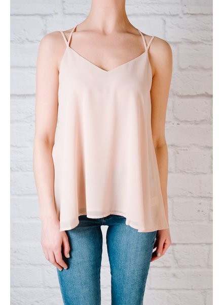 Blouse Blush braided racerback