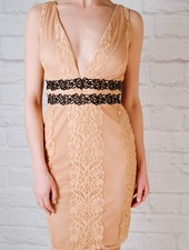 Mini Peachy lace dress