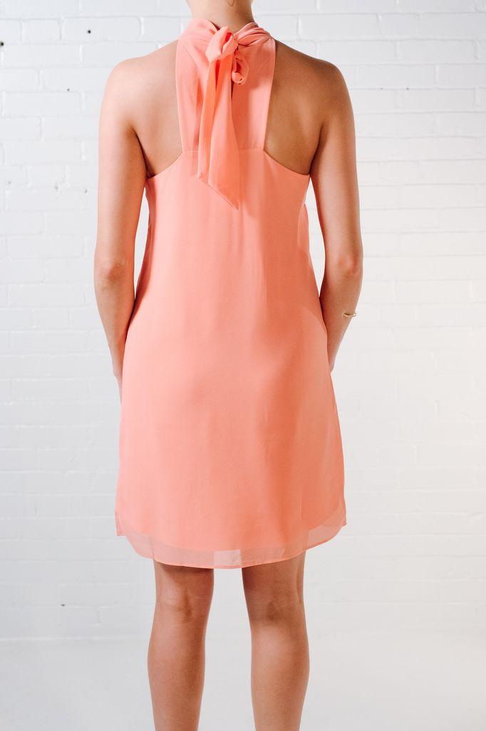 Mini Coral halter dress