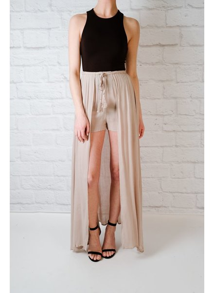 Skirt Open Front Maxi Skirt