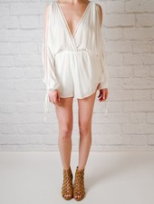 Romper White Embroidered Trim Romper